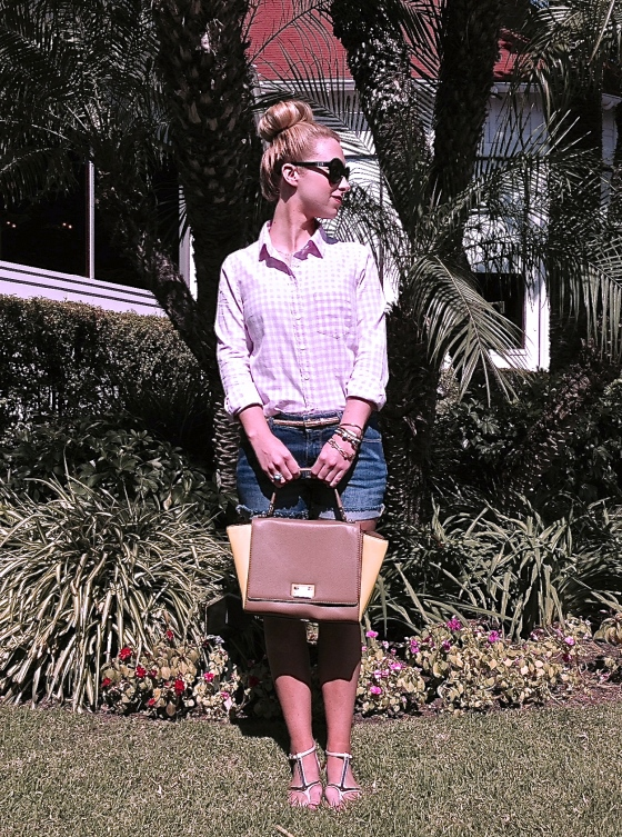 Top: J.Crew, Shorts: BDG, Bag: Kate Spade, Sunglasses: John Randolph, Sandals: Zigi Girl, Belt: Ann Taylor, Necklace: Max and Chloe, Arm Party: Anthropologie, Tulsa Mayfest find, Seasonal Whispers