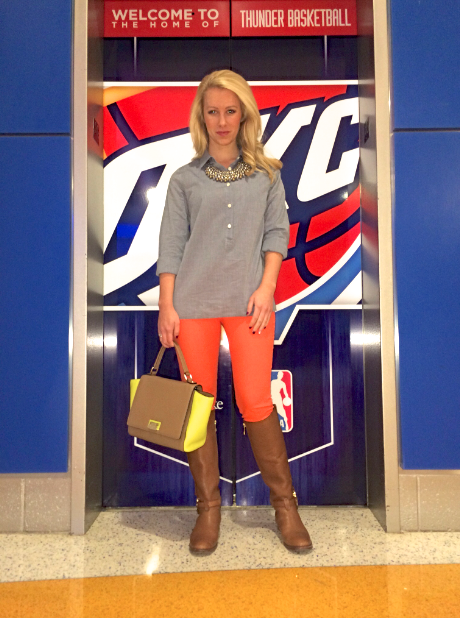 Top: J.Crew, Pants: Zara, Boots: Tory Burch, Bag: Kate Spade, Necklace: Anthropologie, Ring: David Yurman