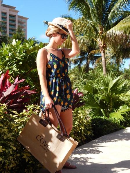 Romper: Pemba Boutique, Hat: Urban Outfitters, Sandals: Zigi Girl, Rings: Lawson Gems, David Yurman