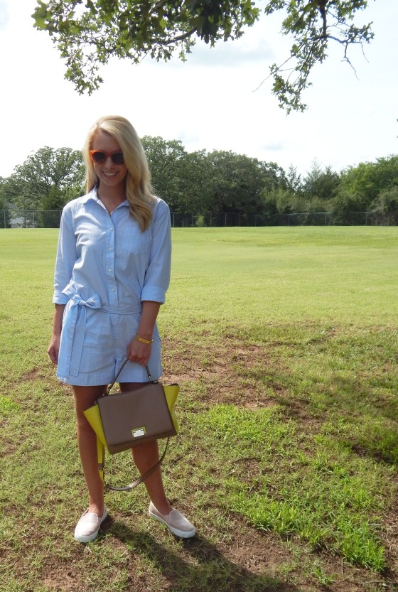Romper / J. Crew | Shoes / Kohl's | Bag / Kate Spade | Sunglasses / Elizabeth + James | Jewelry / David Yurman, C. Wonder